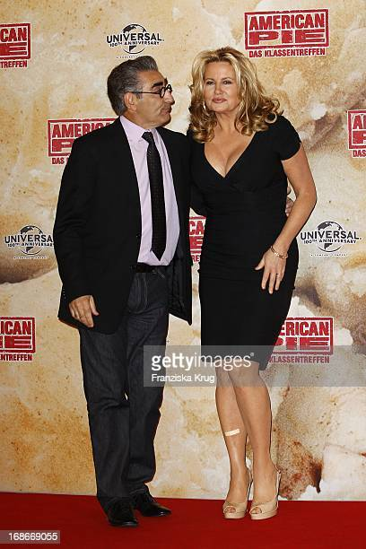 Eugene Levy and Jennifer Coolidge at photocall for the movie American Pie Reunion in Berlin on 29th of March