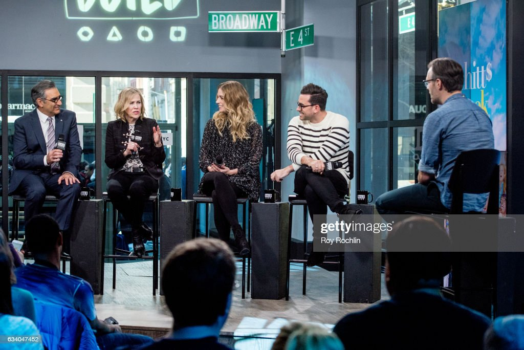 """Build Series Presents Eugene Levy, Dan Levy, Catherine O'Hara and Annie Murphy Discussing """"Schitt's Creek"""""""