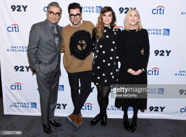 Eugene Levy Daniel levy Annie Murphy and Catherine O'Hara attend the Schitt's Creek Screening Conversation at 92nd Street Y on January 17 2020 in New...