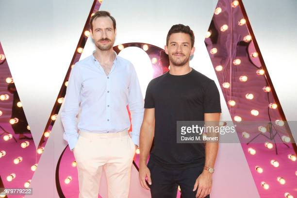 Eugene McCoy and Jonathan Bailey attend the Summer Party at the VA in partnership with Harrods at the Victoria and Albert Museum on June 20 2018 in...