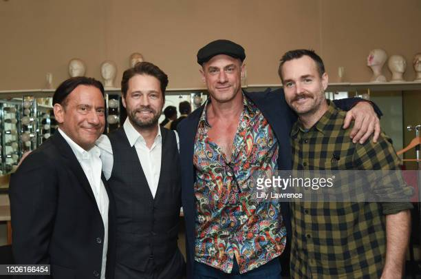 "Eugene Pack, Jason Priestley, Chris Maloney, and Will Forte attend The Groundlings Theatre In LA Hosts ""Celebrity Autobiography"" at The Groundlings..."