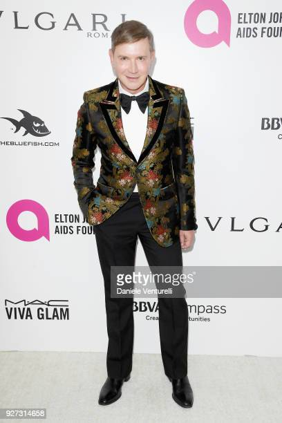 Eugene Sadovoy attends Elton John AIDS Foundation 26th Annual Academy Awards Viewing Party at The City of West Hollywood Park on March 4 2018 in Los...