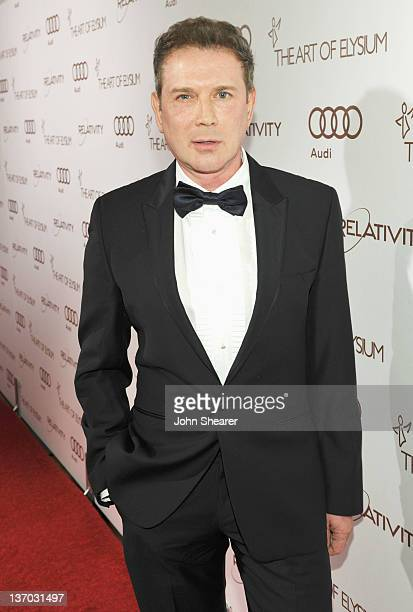Eugene Sadovoy of the Guggenheim Museum arrives at Audi presents The Art of Elysium's 5th annual HEAVEN at Union Station on January 14, 2012 in Los...