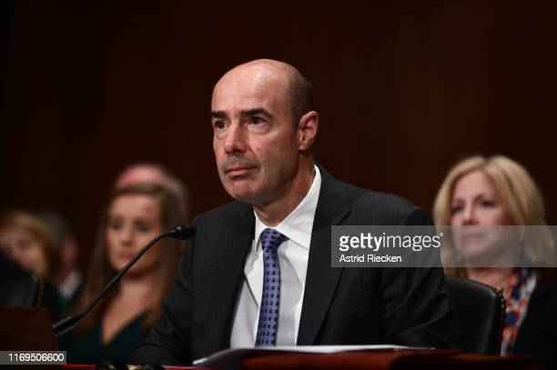 Eugene Scalia attends his confirmation hearing to become the next U.S. Labor Secretary in front of the the U.S. Senate Committee on Health,...
