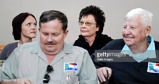 Eugene Terre'Blanche's widow Martie his daughter Bea his brother Andries Terre'Blanche and Patrick Ndlovu attend the Eugene Terre'Blanche murder...