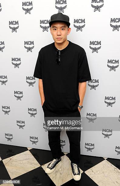 Eugene Tong arrives for MCM x Christopher Raeburn SS17 show at Grand Connaught Rooms on June 11 2016 in London England