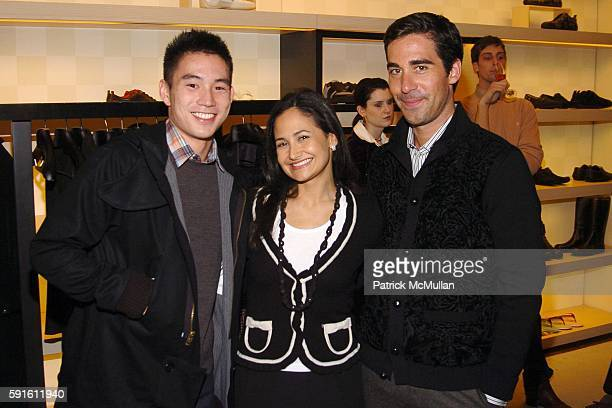 Eugene Tong Julie Luchs and Matthew Marden attend LOUIS VUITTON and Matthew Marden of DETAILS host a private cocktail party at Louis Vuitton on...