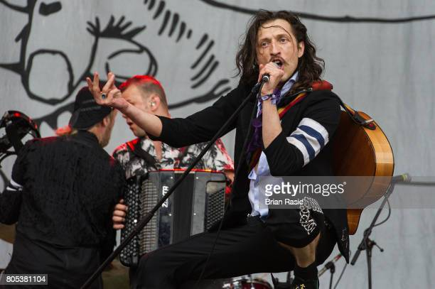 Eugene utz of Gogol Bordelo performs at British Summer Time at Hyde Park on July 1 2017 in London England