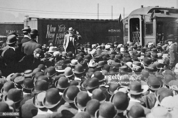Eugene Victor Debs American Union leader addressing a crowd 20th century Debs was instrumental in the founding of one of the first trade unions in...