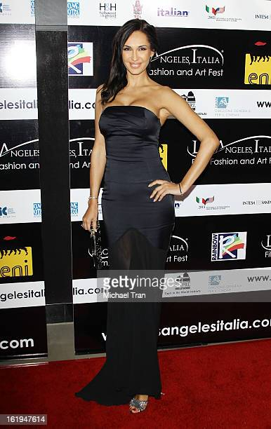 Eugenia Chernyshova arrives at The 8th Annual Los Angeles Italia Film Fashion And Art Festival held at Chinese 6 Theatres on February 17 2013 in...