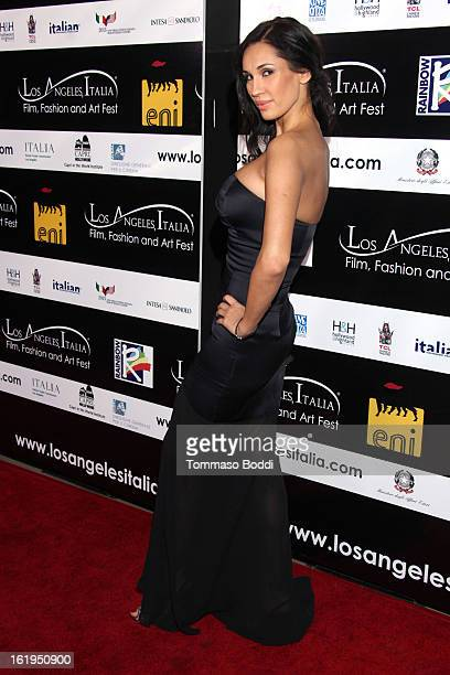 Eugenia Chernyshova attends the 8th annual Los Angeles Italia Film Fashion and Art Festival opening night ceremony held at Mann Chinese 6 on February...