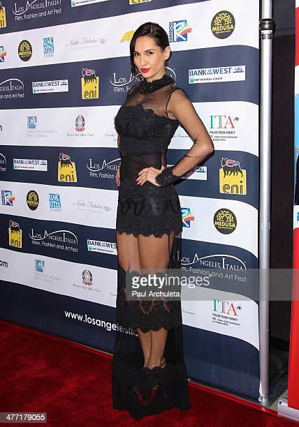 Eugenia Chernyshova attends the 9th annual Los Angeles Italia Film Fashion and Art Fest opening night gala at the TLC Chinese 6 Theatres on February...