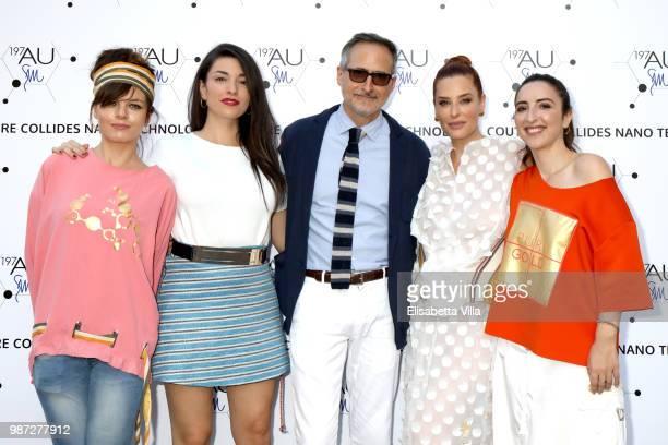 Eugenia Costantini Liliana Fiorelli David Warren Simona Borioni and Anna Ferraioli Ravel attend Sfilata AU197SM AltaRoma on June 29 2018 in Rome Italy