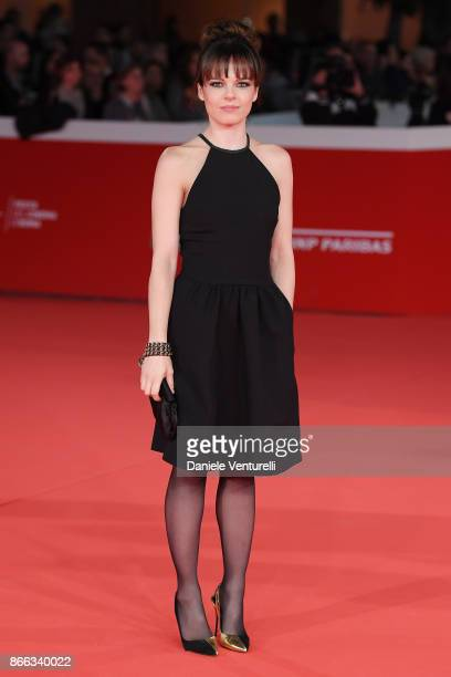 Eugenia Costantini walks the red carpet for 'La Ragazza Nella Nebbia' during the 12th Rome Film Fest at Auditorium Parco Della Musica on October 25...