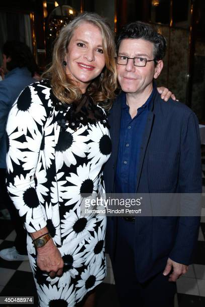Eugenia Grandchamp Des Raux and Director Robert Carsen attend the 'Eugenia Grandchamp Des Raux' Danse Exhibition at Galerie Pierre Passebon on June...