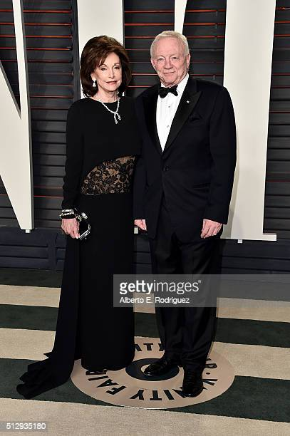 Eugenia Jones and Dallas Cowboys owner Jerry Jones attend the 2016 Vanity Fair Oscar Party hosted By Graydon Carter at Wallis Annenberg Center for...