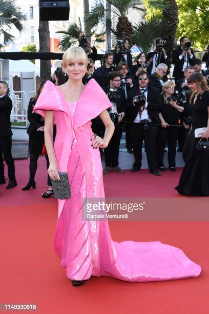 """Eugenia Kuzmina attends the screening of """"Les Miserables"""" during the 72nd annual Cannes Film Festival on May 15, 2019 in Cannes, France."""