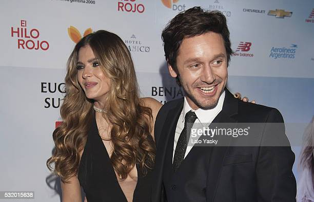 Eugenia 'La China' Suarez and Benjamin Vicuna attend the 'El Hilo Rojo' premiere at the Dot Baires on May 17 2016 in Buenos Aires Argentina