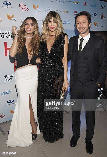 Eugenia 'La China' Suarez Guillermina Valdes and Benjamin Vicuna attend the 'El Hilo Rojo' premiere at the Dot Baires on May 17 2016 in Buenos Aires...