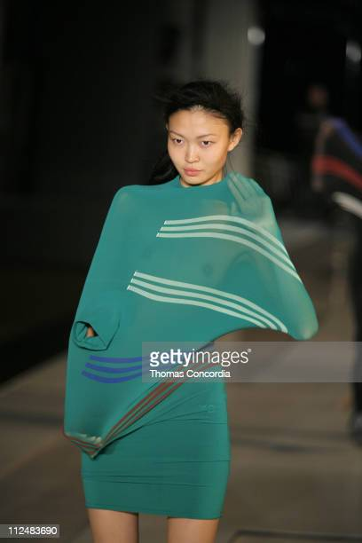 Eugenia M wearing Y3 Spring 2007 during Olympus Fashion Week Spring 2007 Y3 Runway at Pier 40 in New York City New York United States