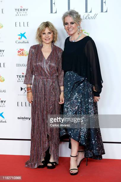 Eugenia Martinez de Irujo and Rosa Tous attend ELLE Charity Gala 2019 to raise funds for cancer at Intercontinental Hotel on May 30, 2019 in Madrid,...