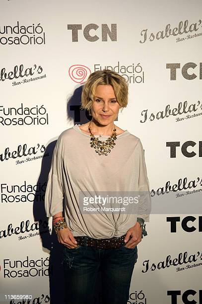 Eugenia Martinez de Irujo attends a cocktail party at Isabella's on May 4 2011 in Barcelona Spain
