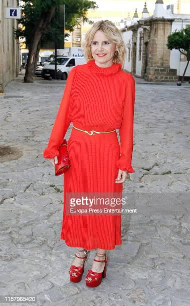 Eugenia Martinez de Irujo attends Ainhoa Arteta's wedding on June 23 2019 at Castillo de San Marcos in Cadiz Spain