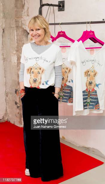 Eugenia Martinez de Irujo attends 'Camiseta Querer Limited Edition By The Extreme Collection' photocall at The Extreme Collection store on February...