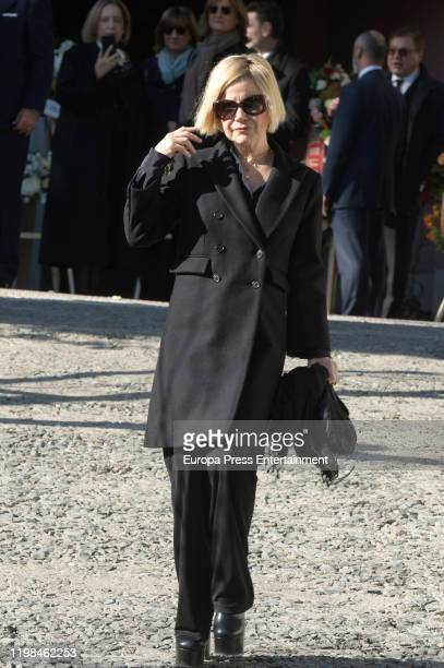Eugenia Martinez de Irujo attends Princess Pilar de Borbon's Funeral Chapel on January 09 2020 in Madrid Spain