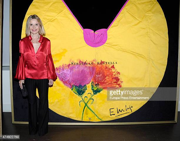 Eugenia Martinez de Irujo presents 'Estrellas Al Quite' a charity auction of bullfighting capes on May 27 2015 in Madrid Spain