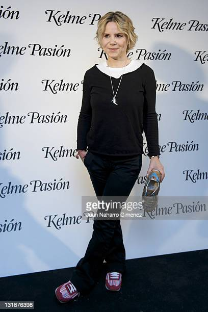 Eugenia Martinez de Irujo presents the new 'Kelme Pasion' slippers on March 23 2011 in Madrid Spain