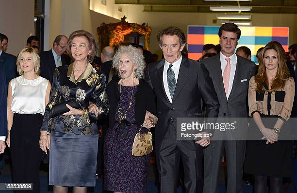Eugenia Martinez de Irujo Queen Sofia of Spain Cayetana FitzJames Stuart Duchess of Alba her husband Alfonso Diez Cayetano Martinez de Irujo and...
