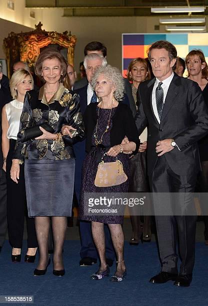 Eugenia Martinez de Irujo Queen Sofia of Spain Cayetana FitzJames Stuart Duchess of Alba and her husband Alfonso Diez attend 'El Legado Casa de Alba'...