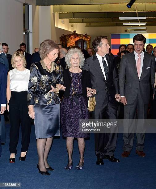 Eugenia Martinez de Irujo Queen Sofia of Spain Cayetana FitzJames Stuart Duchess of Alba her husband Alfonso Diez and Cayetano Martinez de Irujo...