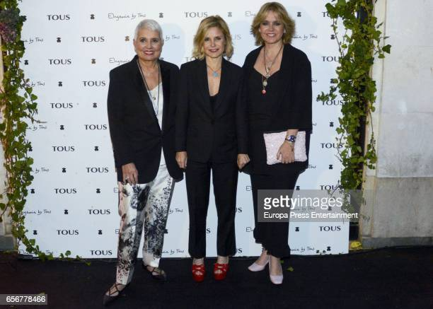 Eugenia Martinez de Irujo Rosa Tous and Rosa Oriol attend the launching of Eugenia's new Tous jewelry collection 'Tanuca' dedicated to her mother...