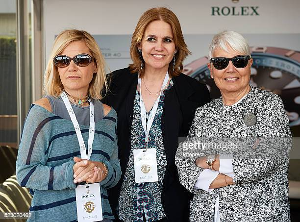 Eugenia Martinez de Irujo , Rosa Tous Oriol and Rosa Oriol attend day three of the Barcelona Open Banc Sabadell at the Real Club de Tenis Barcelona...