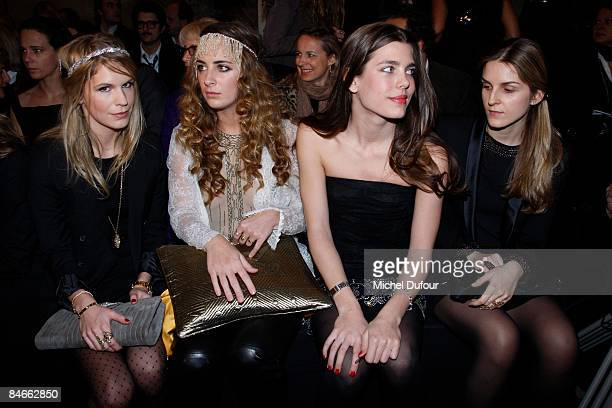 Eugenia Niarchos Alexia Niedzielski Charlotte Casiraghi and Gaya Repossi attend Etam party and fashion show at the Ritz Hotel on February 5 2009 in...