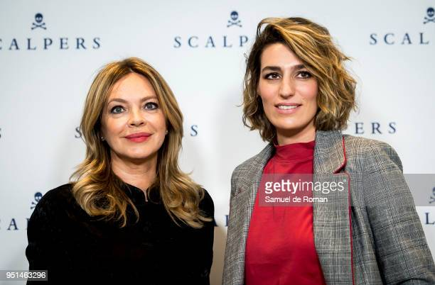 Eugenia Ortiz Domecq And Laura Vecino present new Scalpers Woman on April 26 2018 in Madrid Spain