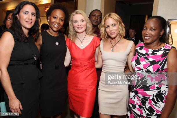 Eugenia Podesta AnnValerie Timothee Milfort Alyse Nelson Maria Bello and Niemat Ahmadi attend MARIA BELLO and JUDITH LEIBER Host 'Don't Forget Haiti'...