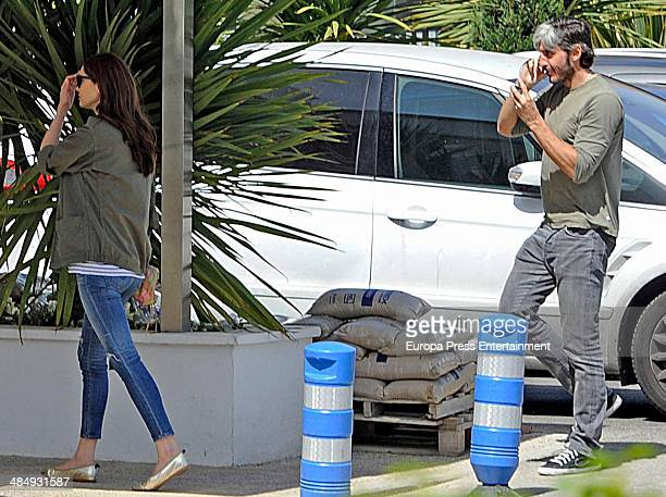 Eugenia Silva and Alfonso de Borbon are seen on April 11 2014 in Madrid Spain