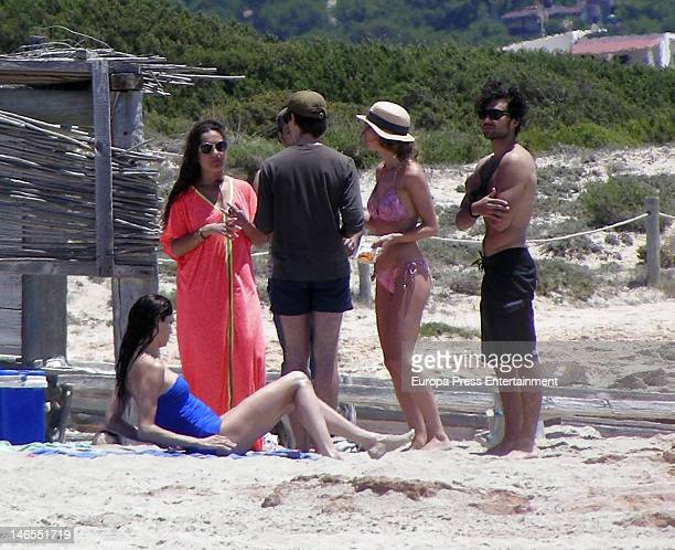 Eugenia Silva and Diego Osorio are seen on June 19 2012 in Ibiza Spain