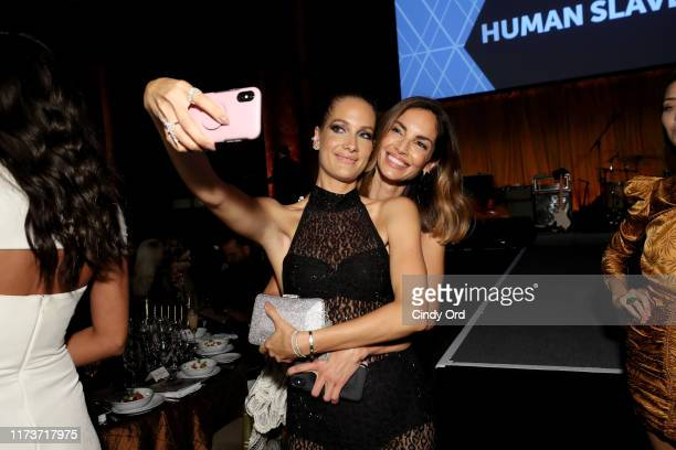 Eugenia Silva and Schynaider Garero attend the Mosaic Federation Gala Against Human Slavery on September 10, 2019 at Cipriani 42nd Street in New York...
