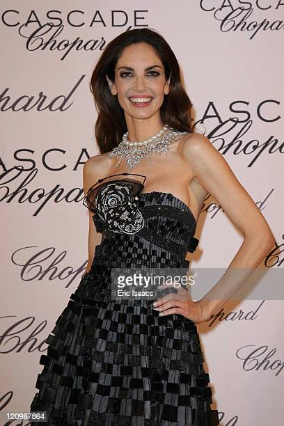 Eugenia Silva attends at Chopard Belle Du Nuit Dinner during the 62nd International Cannes Film Festival on May 13 2009 in Cannes France