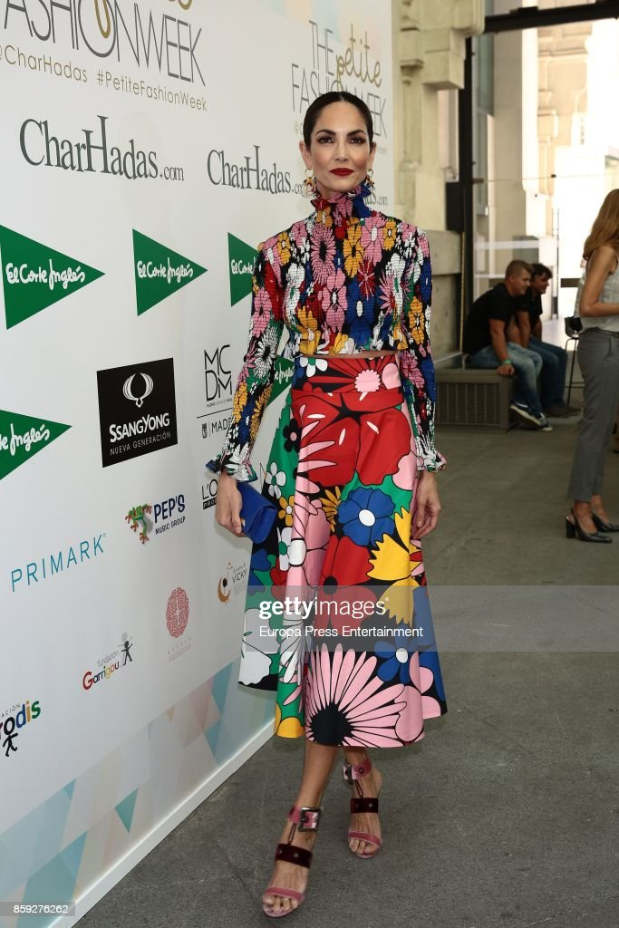 Eugenia Silva attends 'The Petite Fashion Week' Photocall at Cibeles Palace on October 6, 2017 in Madrid, Spain.