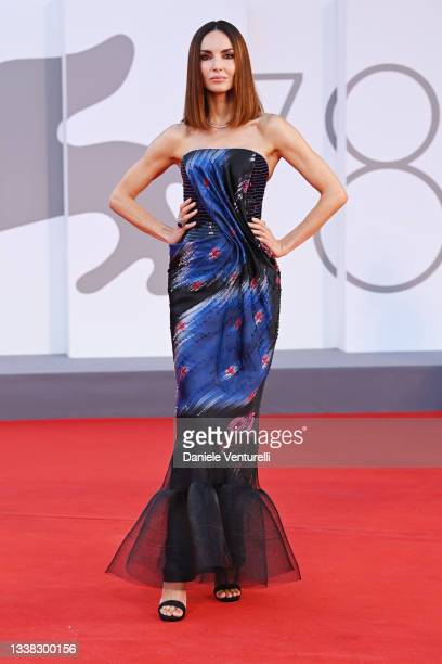 """Eugenia Silva attends the red carpet of the movie """"Competencia Oficial"""" during the 78th Venice International Film Festival on September 04, 2021 in..."""
