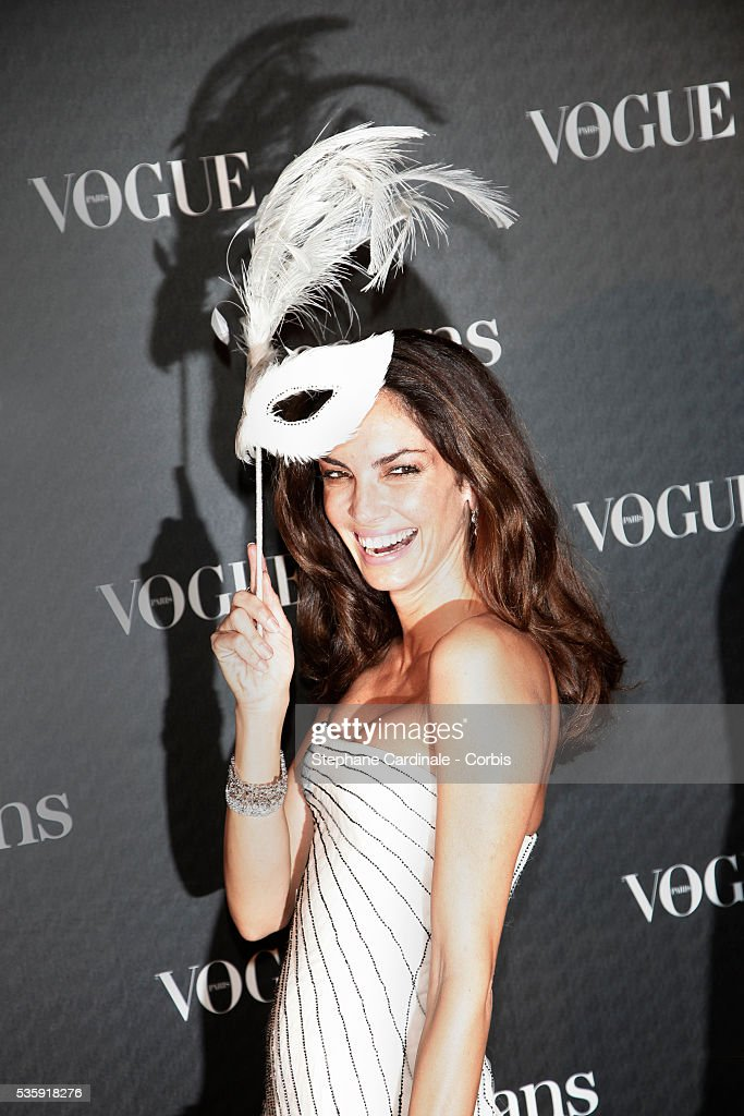 Eugenia Silva attends the Vogue 90th Anniversary Party in Paris.