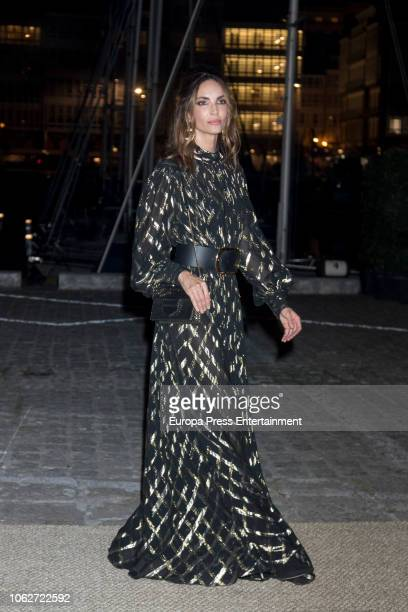Eugenia Silva is seen attending Marta Ortega's Wedding preparty at Nautical Club on November 16 2018 in A Coruna Spain