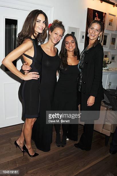 Eugenia Silva Tatjana Pesko Fabiola de Freitas and Princess Nikolaos of Greece and Denmark attend the launch of Tatjana Anika Swimwear at Morton's on...