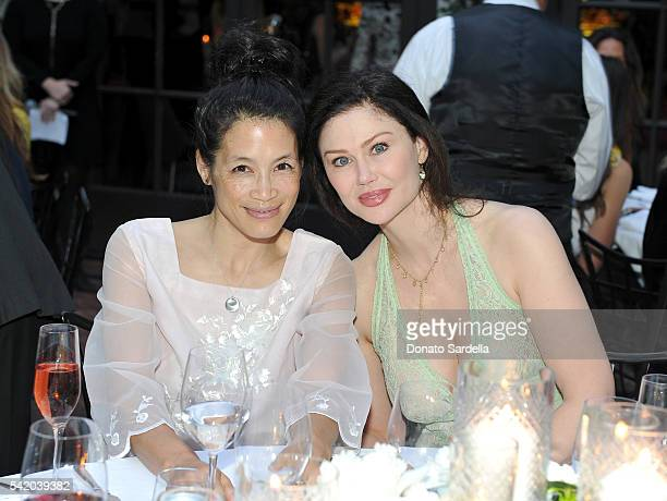 Eugenia Yuan and Hope Allen attend as Susan Casden and Friends of The Costume Institute The Metropolitan Museum of Art host a dinner in honor of...