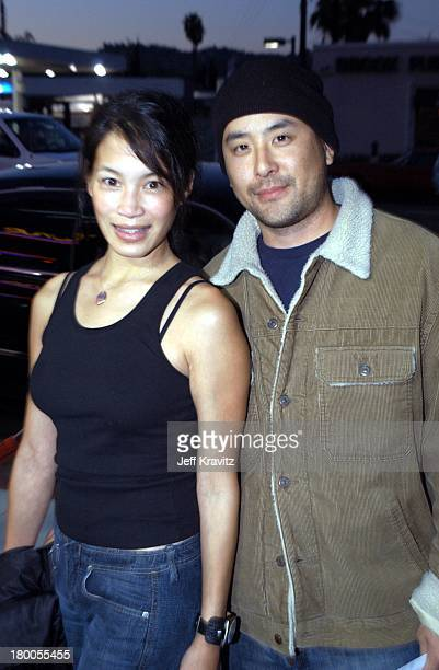 Eugenia Yuan and Michael Idemoto during MTV Films Premiere Better Luck Tomorrow Arrivals at Landmark Theater in Los Angeles California United States